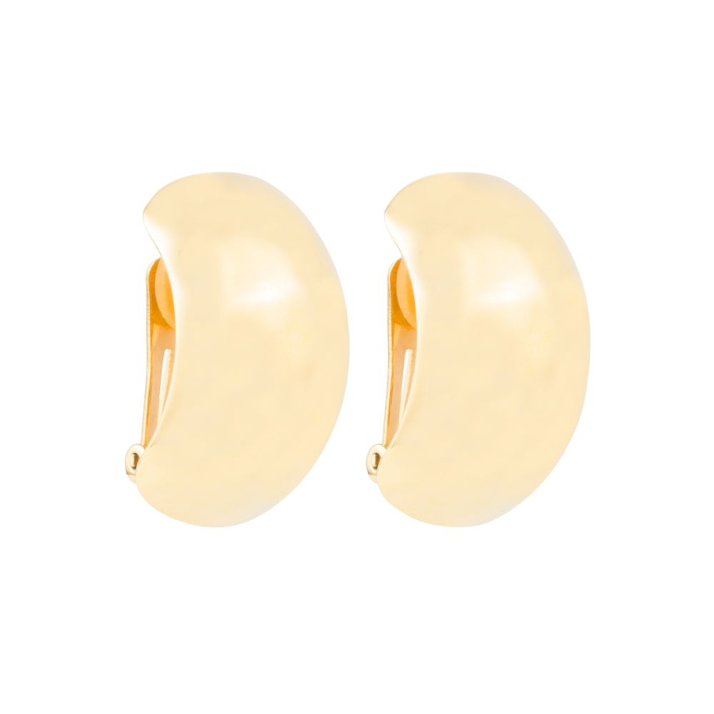 1980s Vintage Christian Dior Demi Hoop Clip-On Earrings