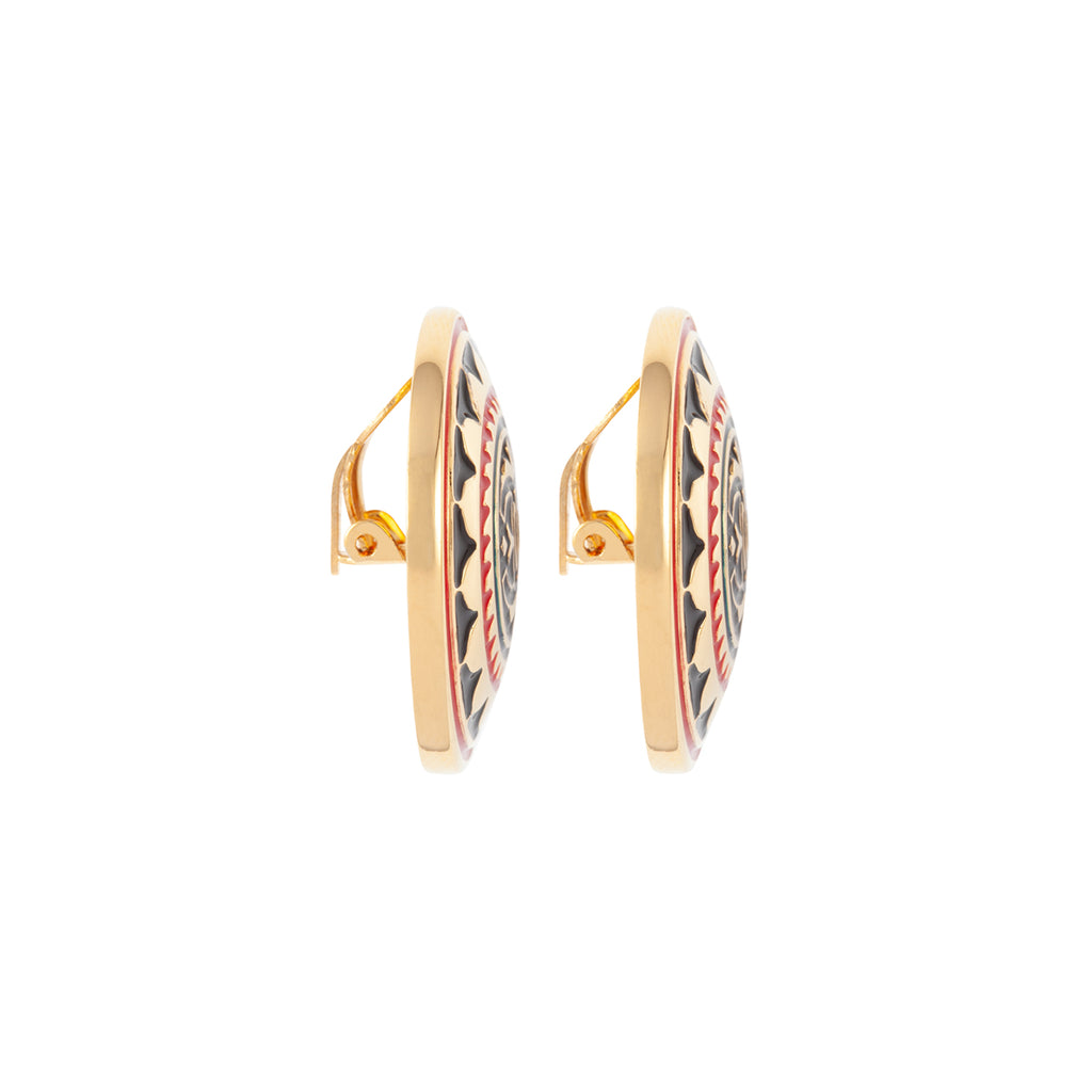 1980s Vintage Chanel Oriental Clip-On Earrings