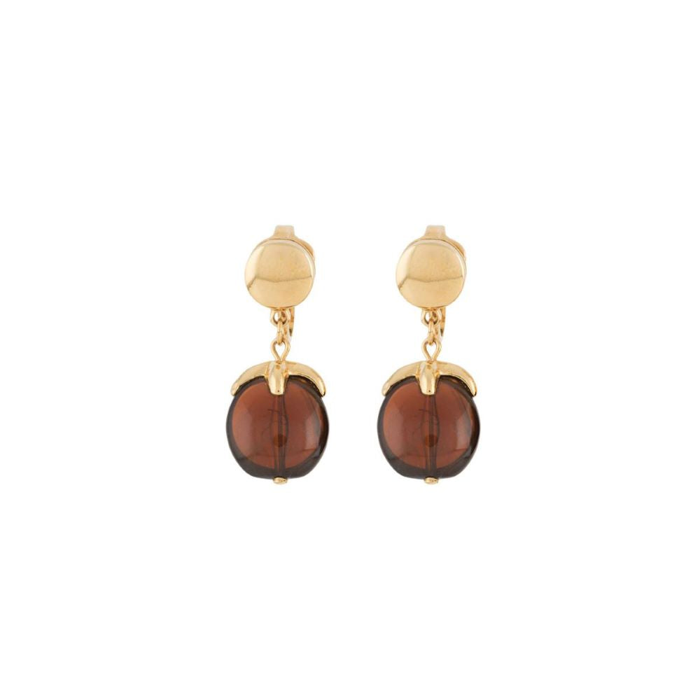 1970s Vintage Faux Amber Clip-On Earrings
