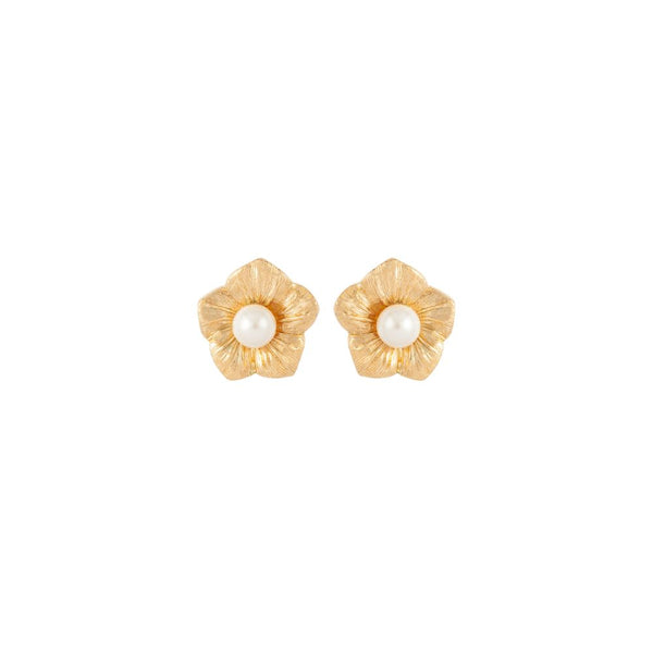 1980s Vintage Christian Dior Floral Clip-On Earrings