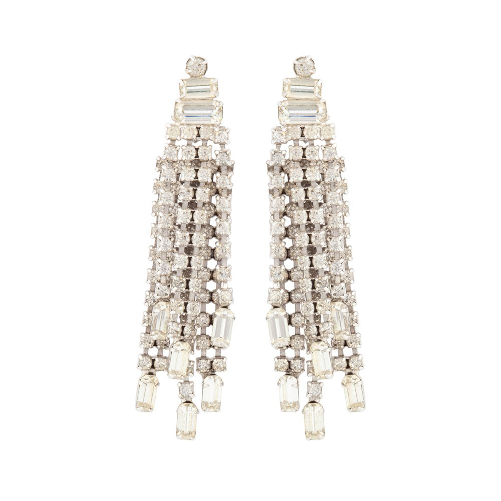 1960s Vintage Statement Chandelier Earrings