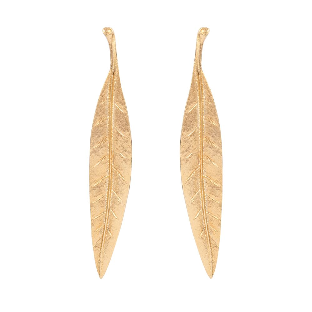 1980s Vintage Kenneth Jay Lane Leaf Earrings