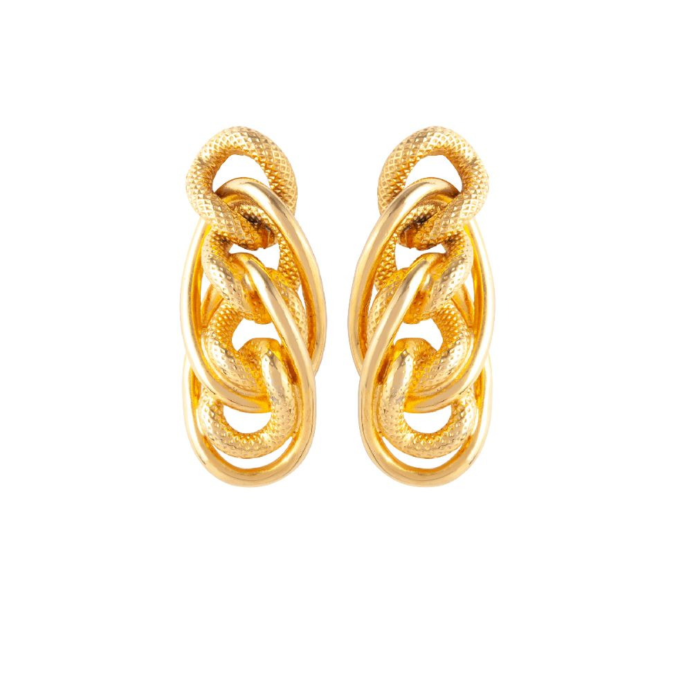 1980s Vintage Givenchy Gold Twist Earrings