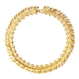 1950s Vintage Monet Golden Seagrass Necklace