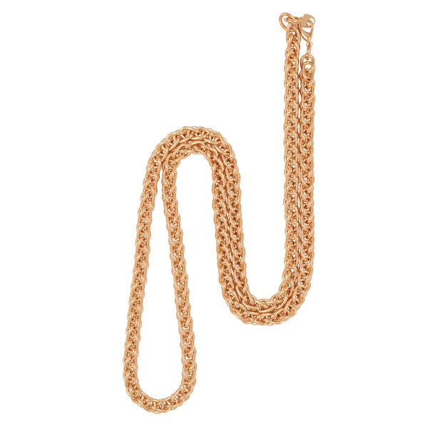 1990s Vintage Gold Plated Spiga Chain Necklace