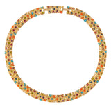 1980s Vintage D'Orlan Colourful Swarovski Crystal Collar
