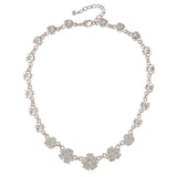 1980s Vintage Nina Ricci Swarovski Crystal Flower Necklace