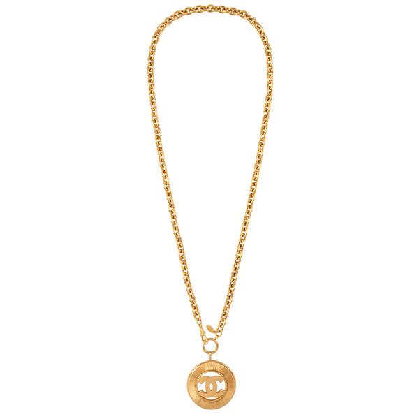 1980s Vintage Chanel Statement Coin Pendant
