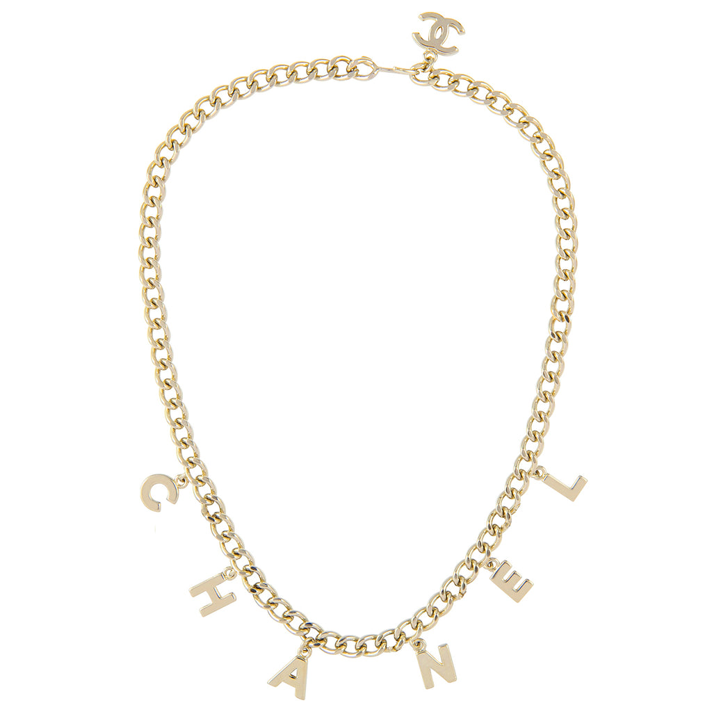 2004 Chanel Letter Charm Necklace