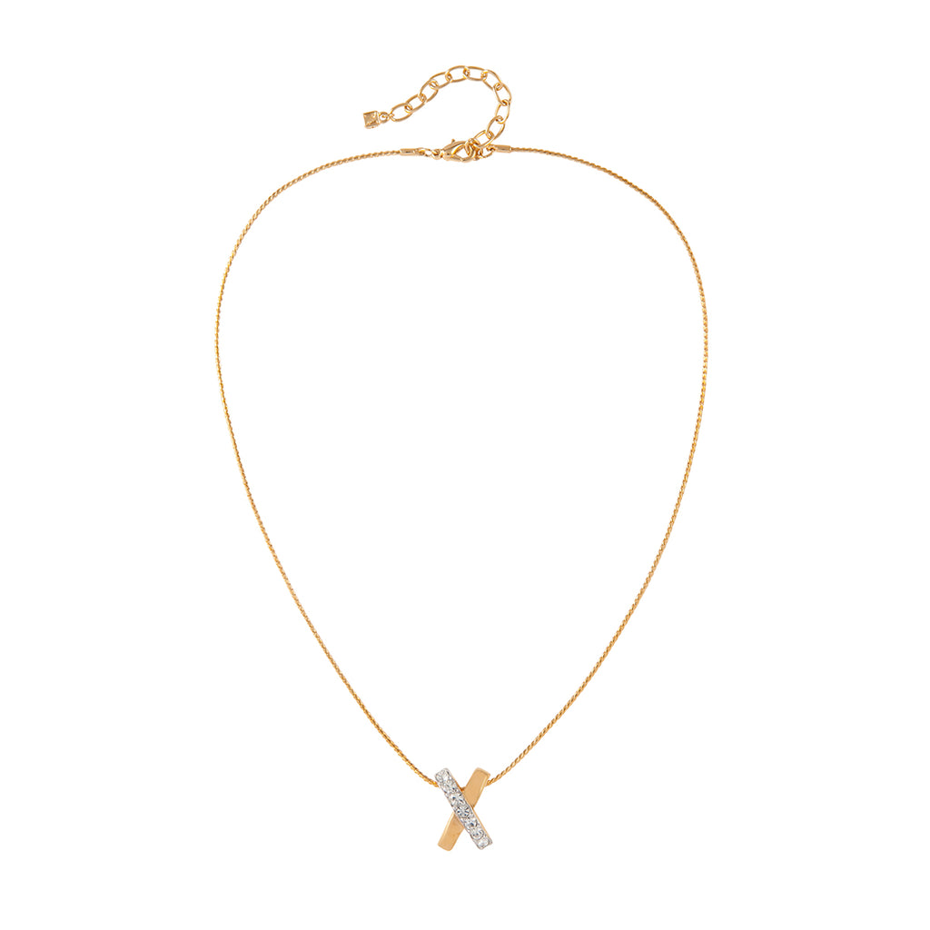 1980s Vintage Nina Ricci Criss-Cross Necklace