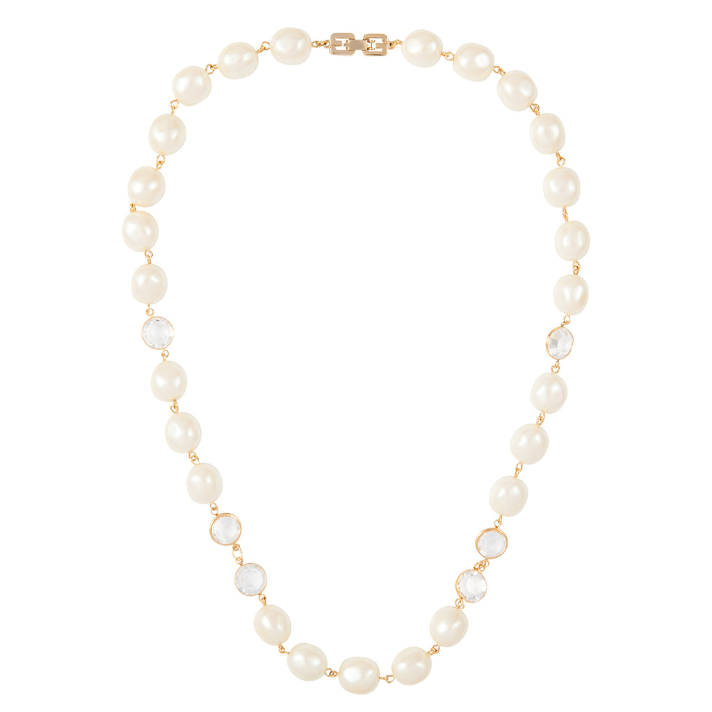 1980s Vintage Givenchy Faux Pearl Necklace