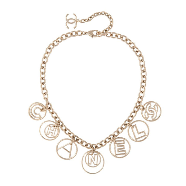 2017 Chanel Logo Charm Necklace