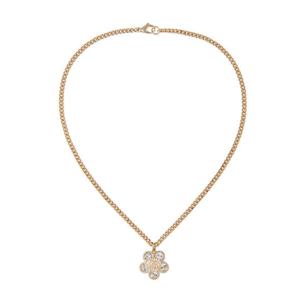 2006 Chanel 22ct Gold Plated Flower Necklace