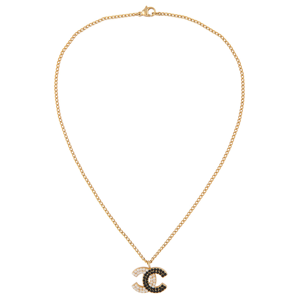 2003 Chanel Black & White Pendant Necklace