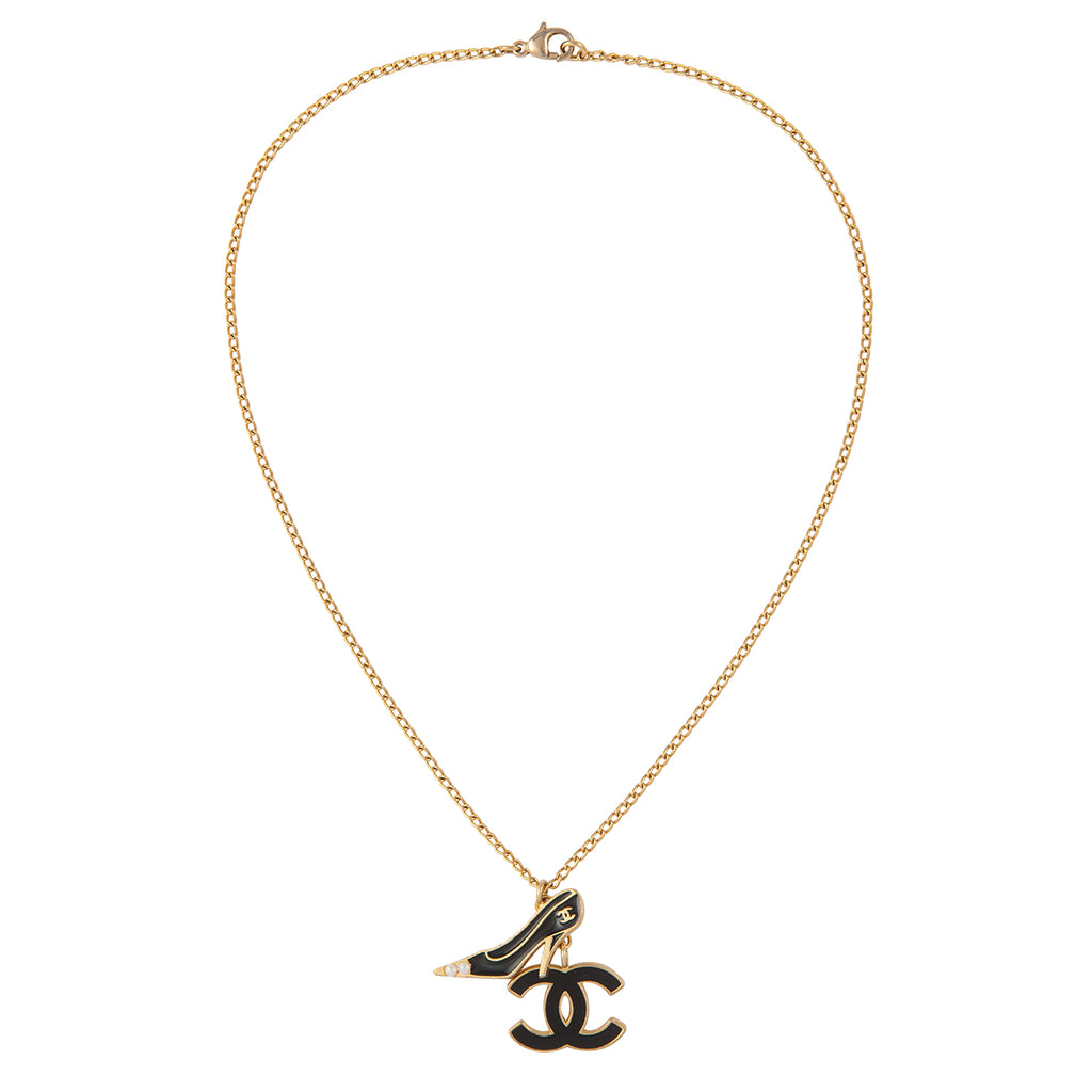 2003 Chanel Heel Charm Pendant Necklace