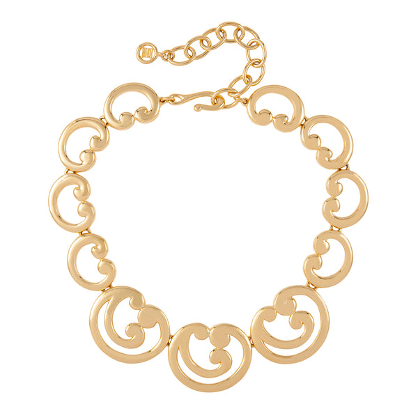 1980s Vintage Givenchy Statement Swirl Necklace