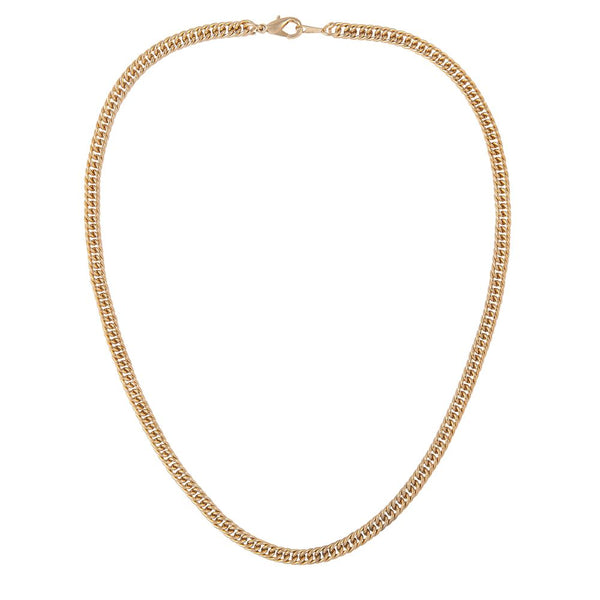 1990s Vintage 22ct Gold Plated Curb Chain Necklace.