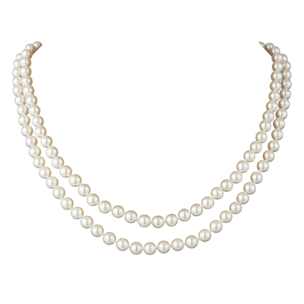 1960s Vintage Faux Pearl Double Strand Necklace