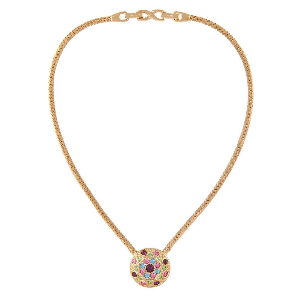 1980s Vintage D'Orlan Pastel Necklace
