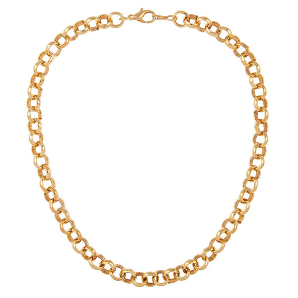 1990s Vintage 22ct Gold Plated Belcher Chain Necklace