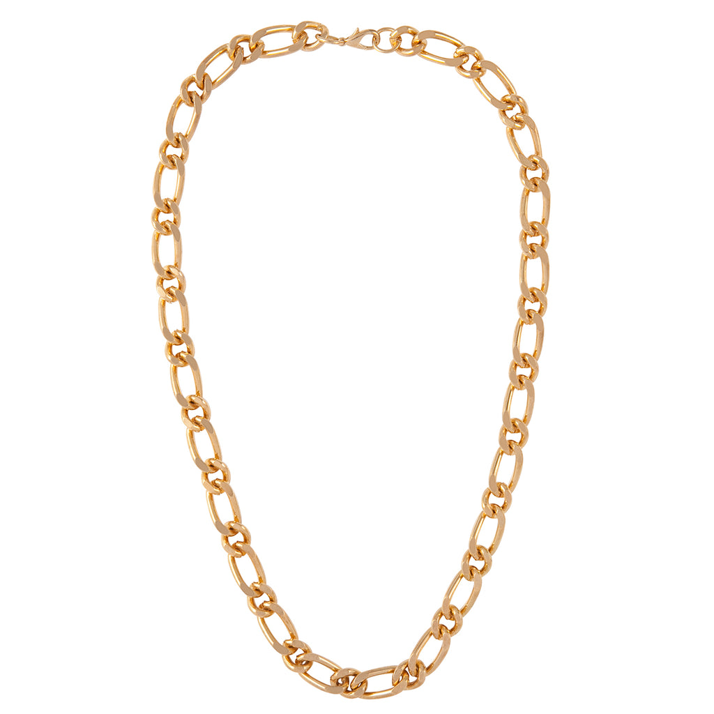 1990s Vintage Gold Plated Chain Necklace