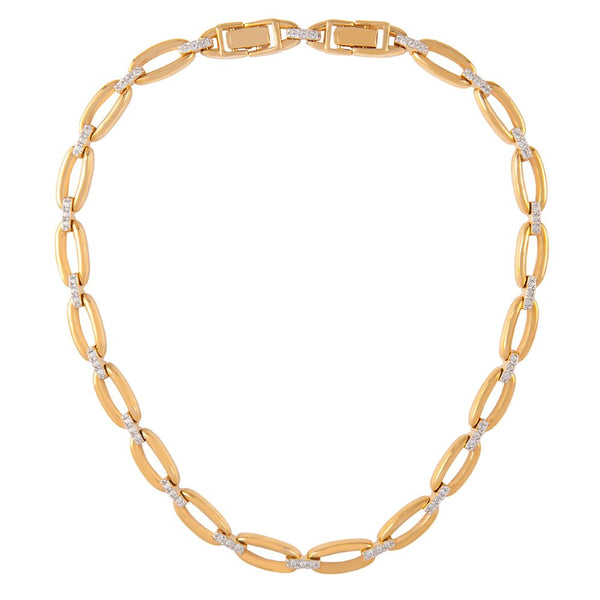 1980s Vintage Nina Ricci Oval Link Necklace