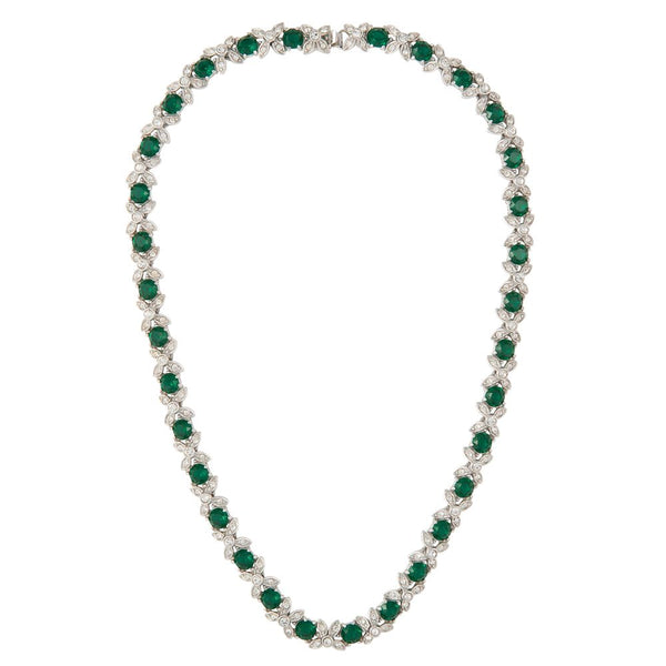 1960s Vintage Faux Emerald Necklace