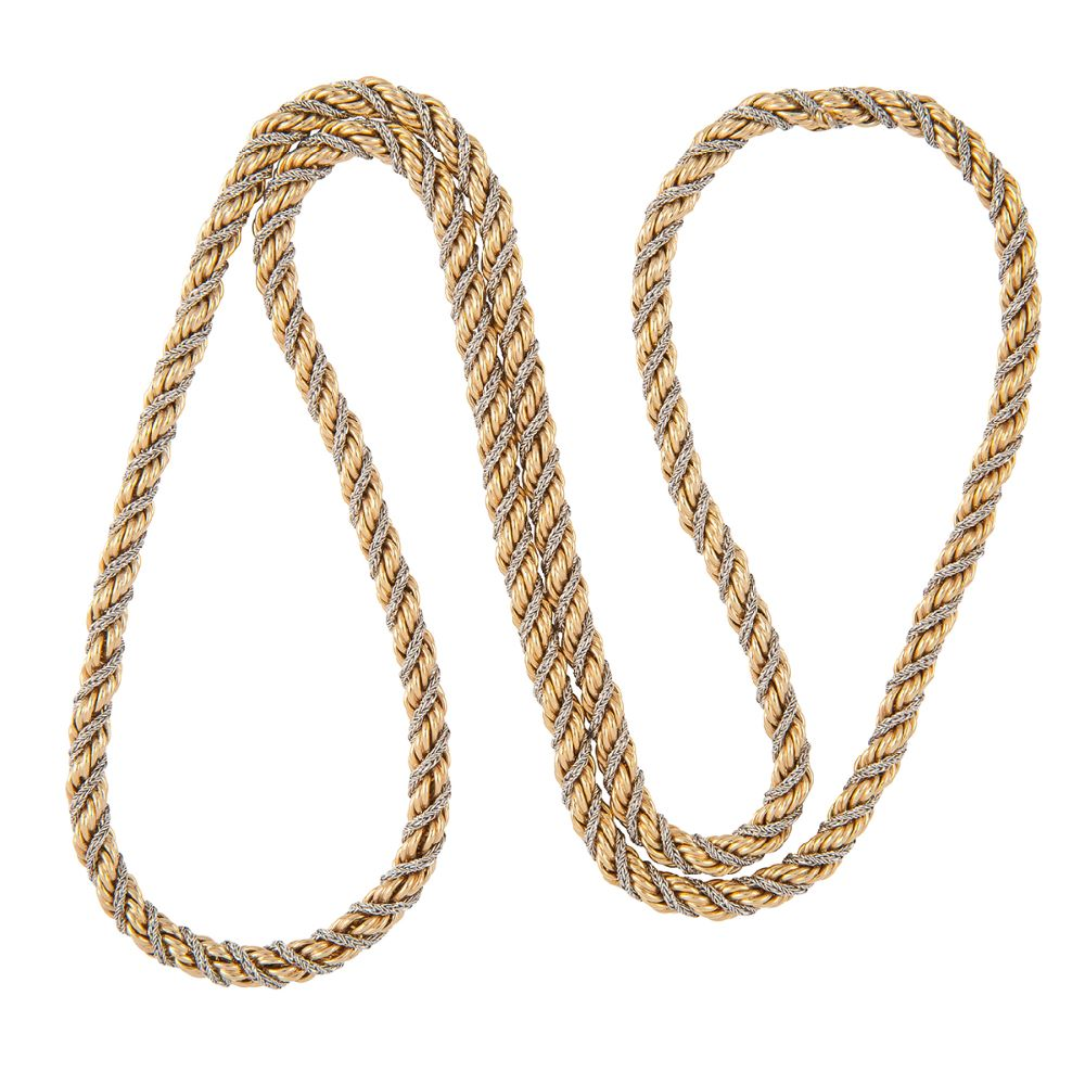 1980s Vintage Christian Dior Rope Chain Necklace