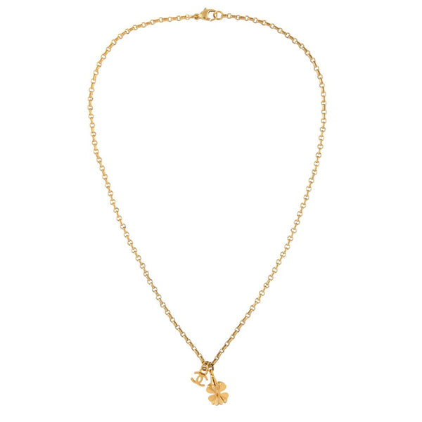 2002 Chanel Clover Charm Necklace