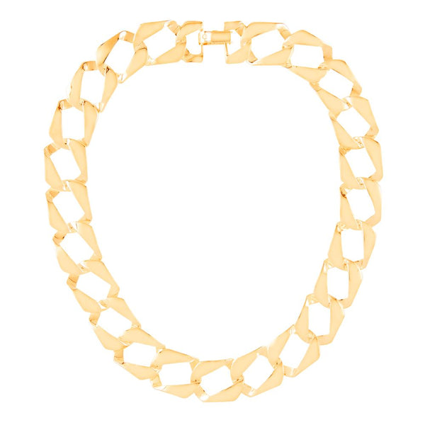 1990s Vintage Gold Plated Chain Link Necklace