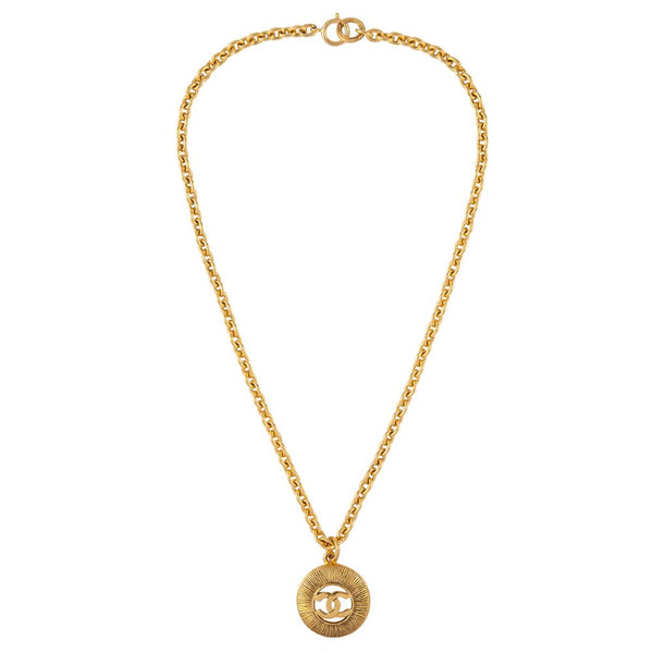 1980s Vintage Chanel Byzantine Coin Pendant