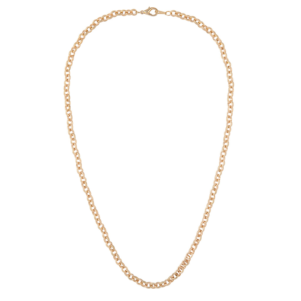 1990s Vintage Gold Plated Belcher Chain Necklace