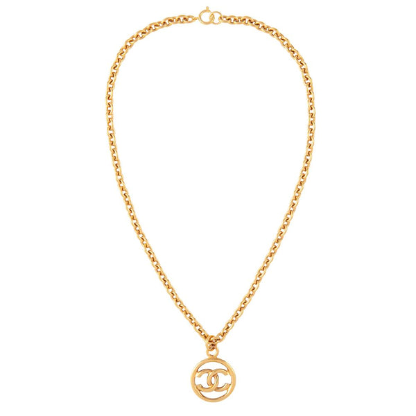 1999 Vintage Chanel Logo Charm Necklace