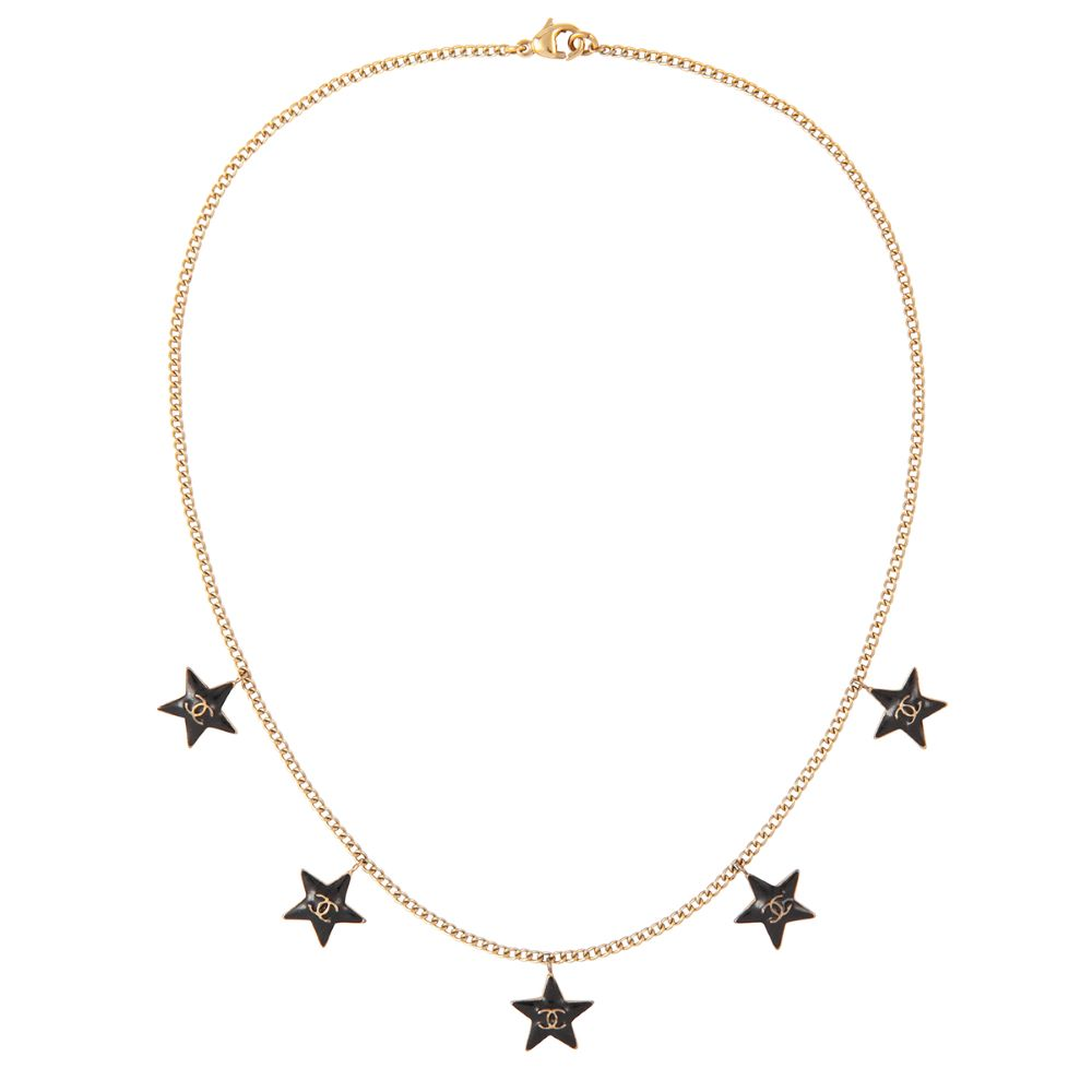 2003 Chanel 22ct Gold Plated Star Charm Necklace