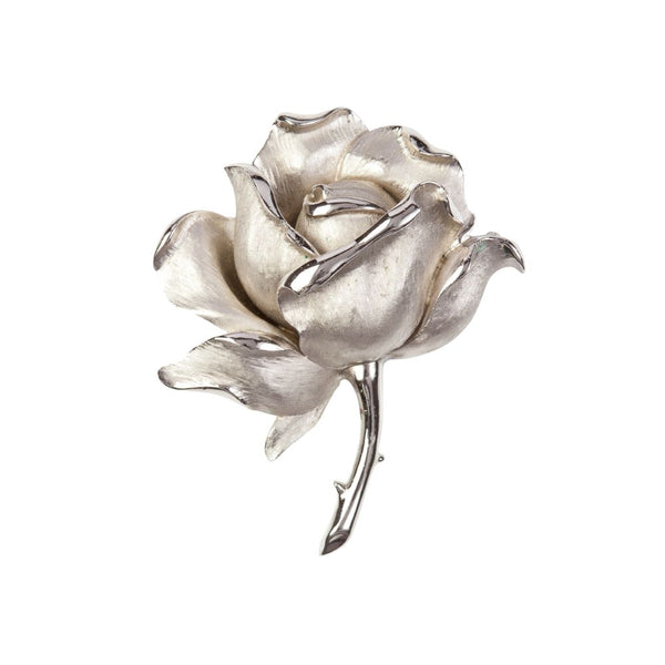 1960s Vintage Trifari Rose Brooch