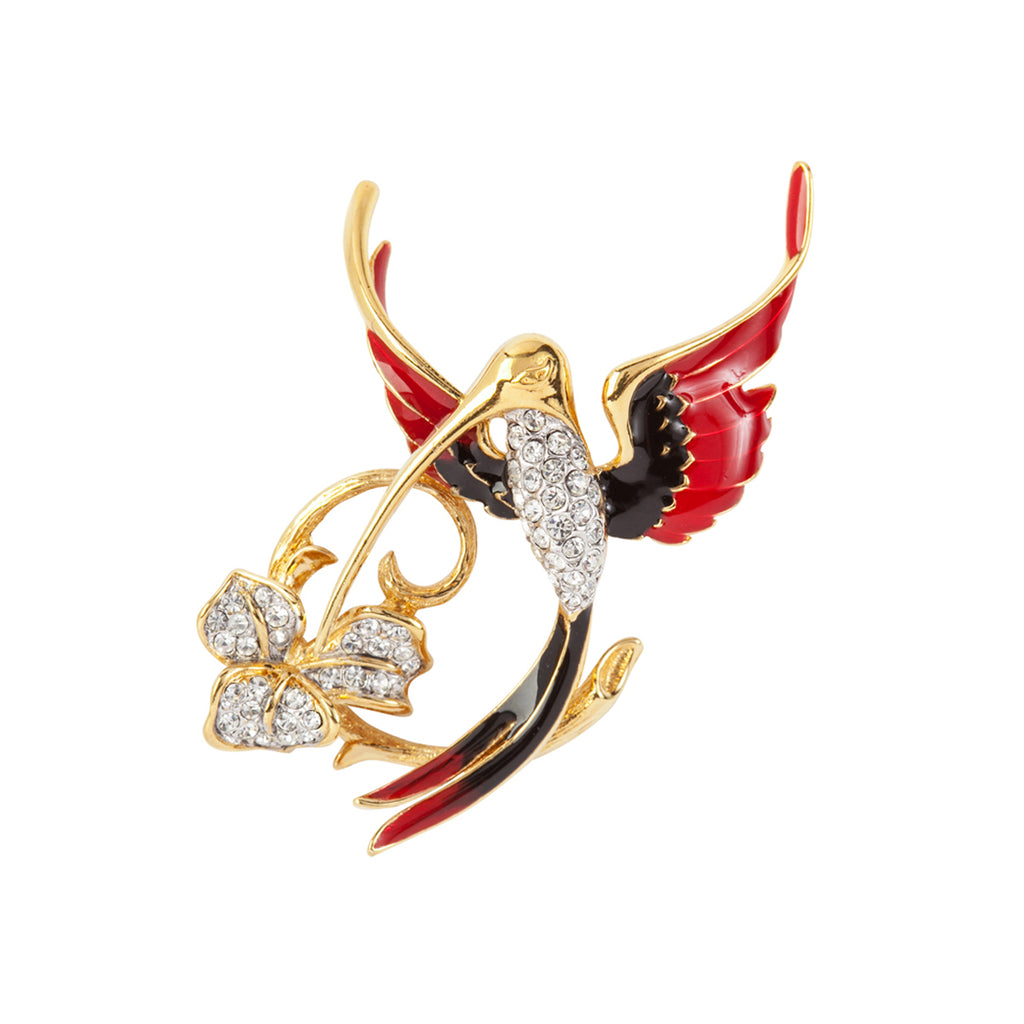 1970s Vintage Attwood & Sawyer Hummingbird Brooch