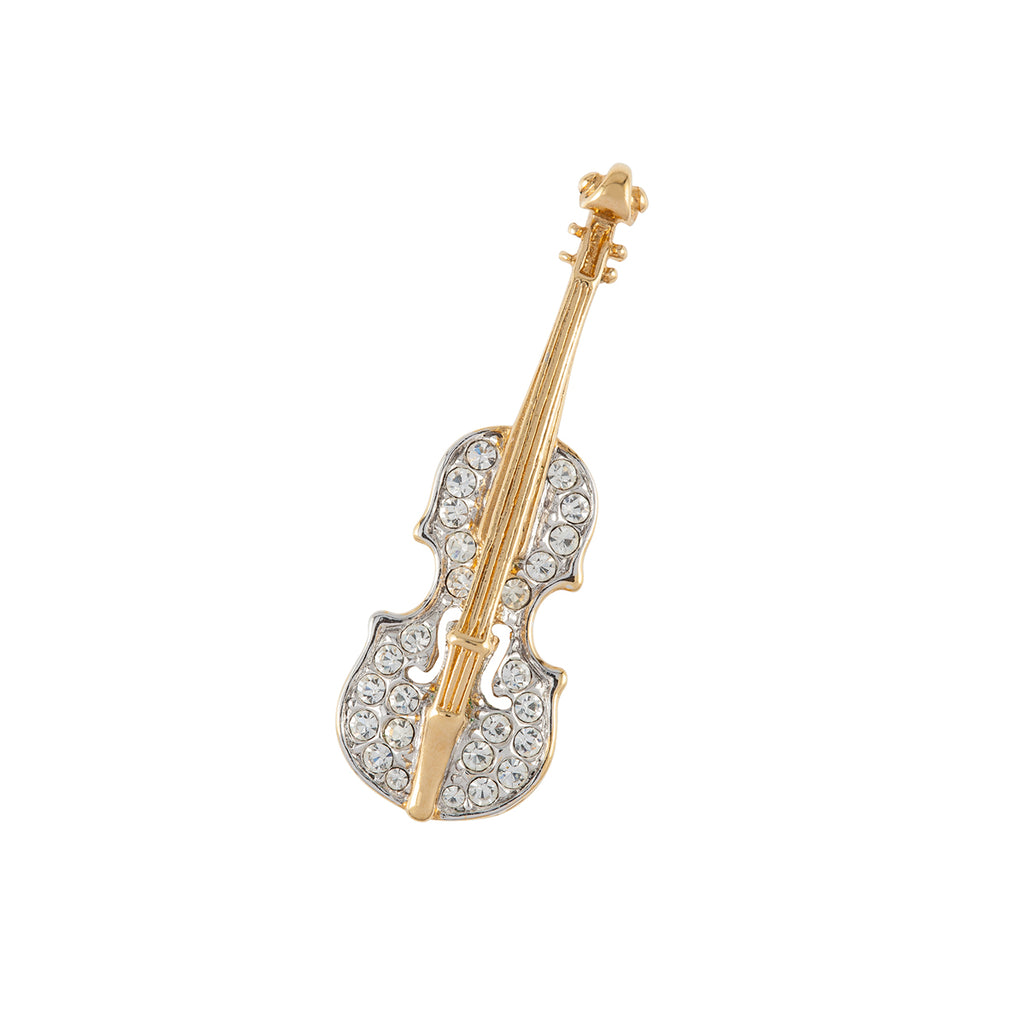 1960s Vintage Attwood & Sawyer Violin Brooch