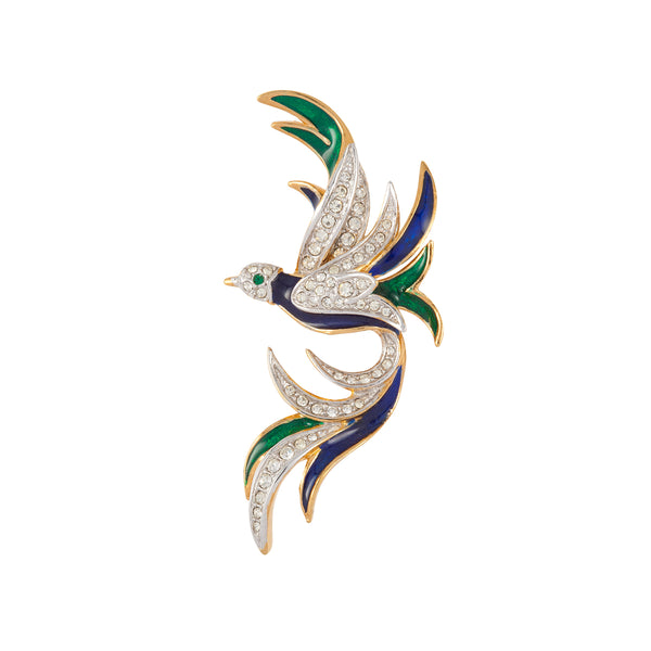 1970s Attwood & Sawyer Bird of Paradise Brooch