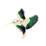1980s Vintage Attwood & Sawyer Hummingbird Brooch