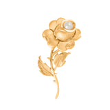 1960s Vintage Trifari Brushed Rose Brooch
