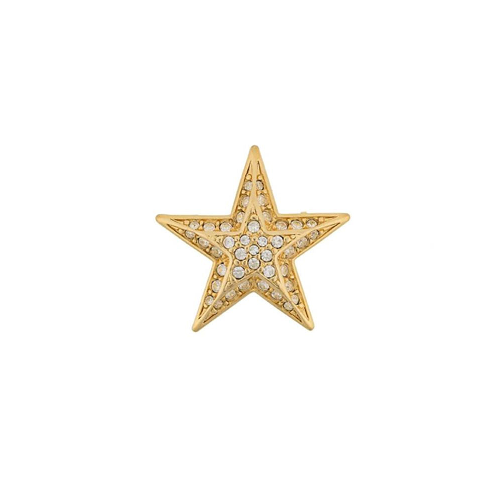 1990s Vintage Joan Rivers Crystal Star Brooch