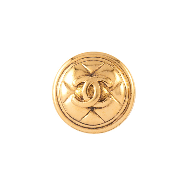 1980s Vintage Chanel Quilted Brooch