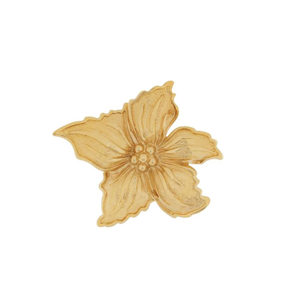 1980s Vintage Christian Dior Flower Brooch
