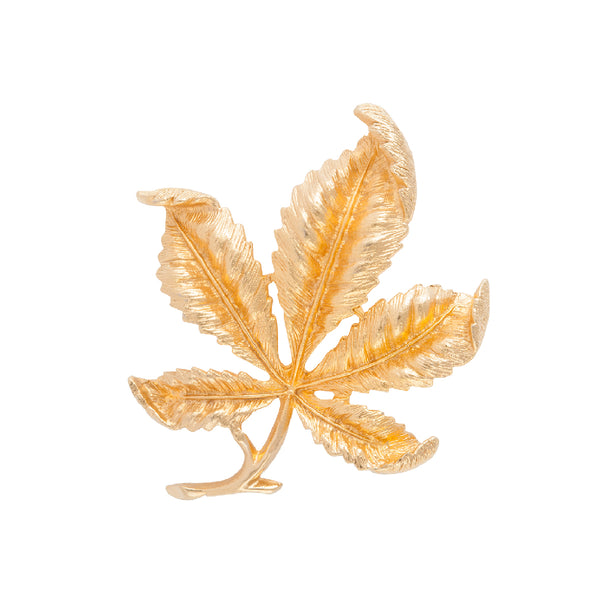 1970s Vintage Sarah Coventry Leaf Brooch