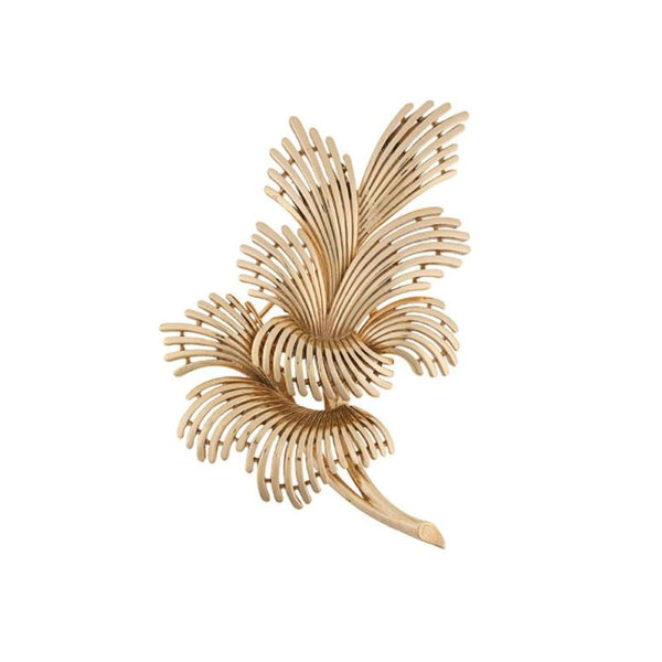 1960s Vintage Trifari Spray Leaf Brooch