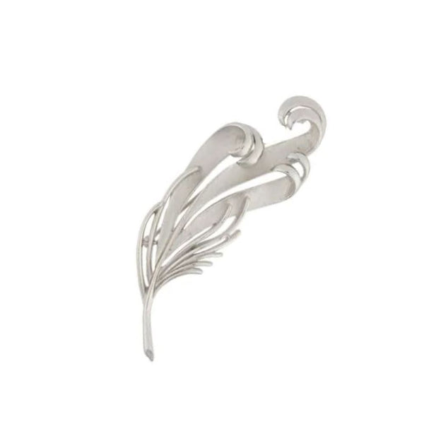 1960s Vintage Trifari Stylised Leaf Brooch