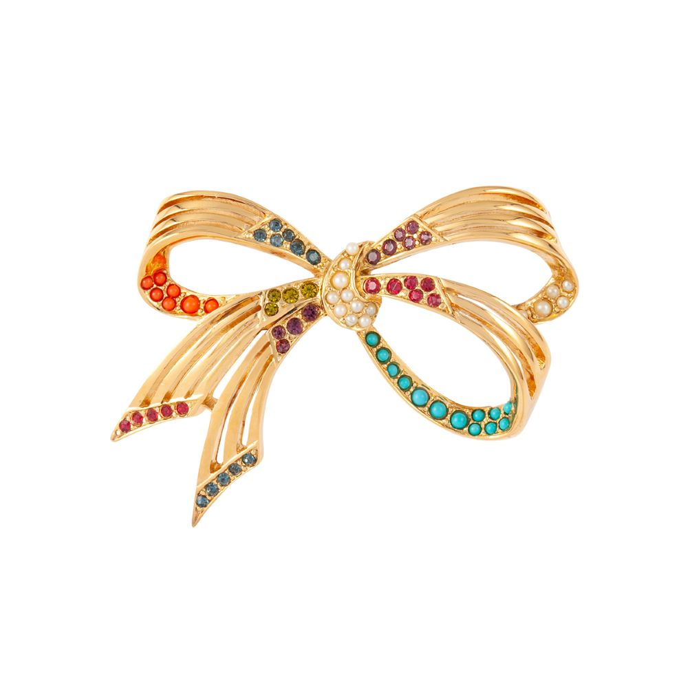 1990s Vintage D'Orlan Bow Brooch