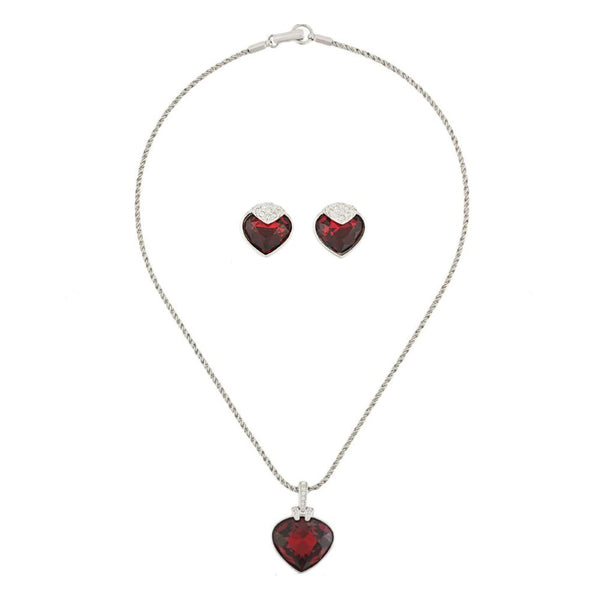 2000 Swarovski Heart Earring and Necklace Set