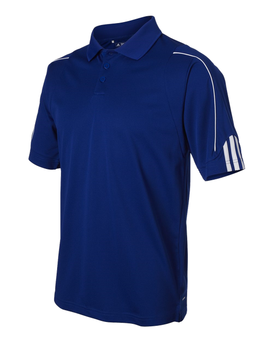 A76 Mens Golf ClimaLite 3-Stripes Cuff Polo