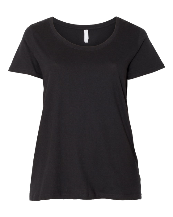 3804 Ladies Curvy Collection Scoopneck Tee